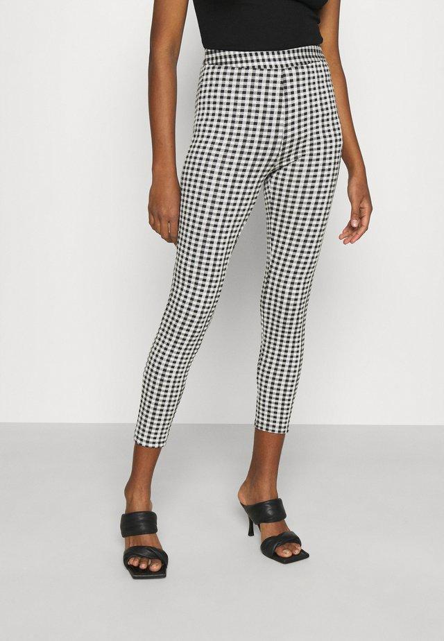 Gingham high waist legging - Leggings - black/white