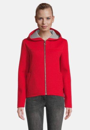 Zip-up sweatshirt - wild red