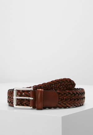 WOVEN BELT - Braided belt - brown