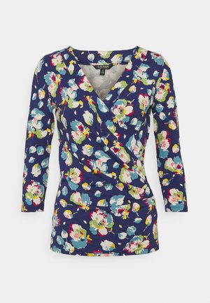 Long sleeved top - royal navy multi