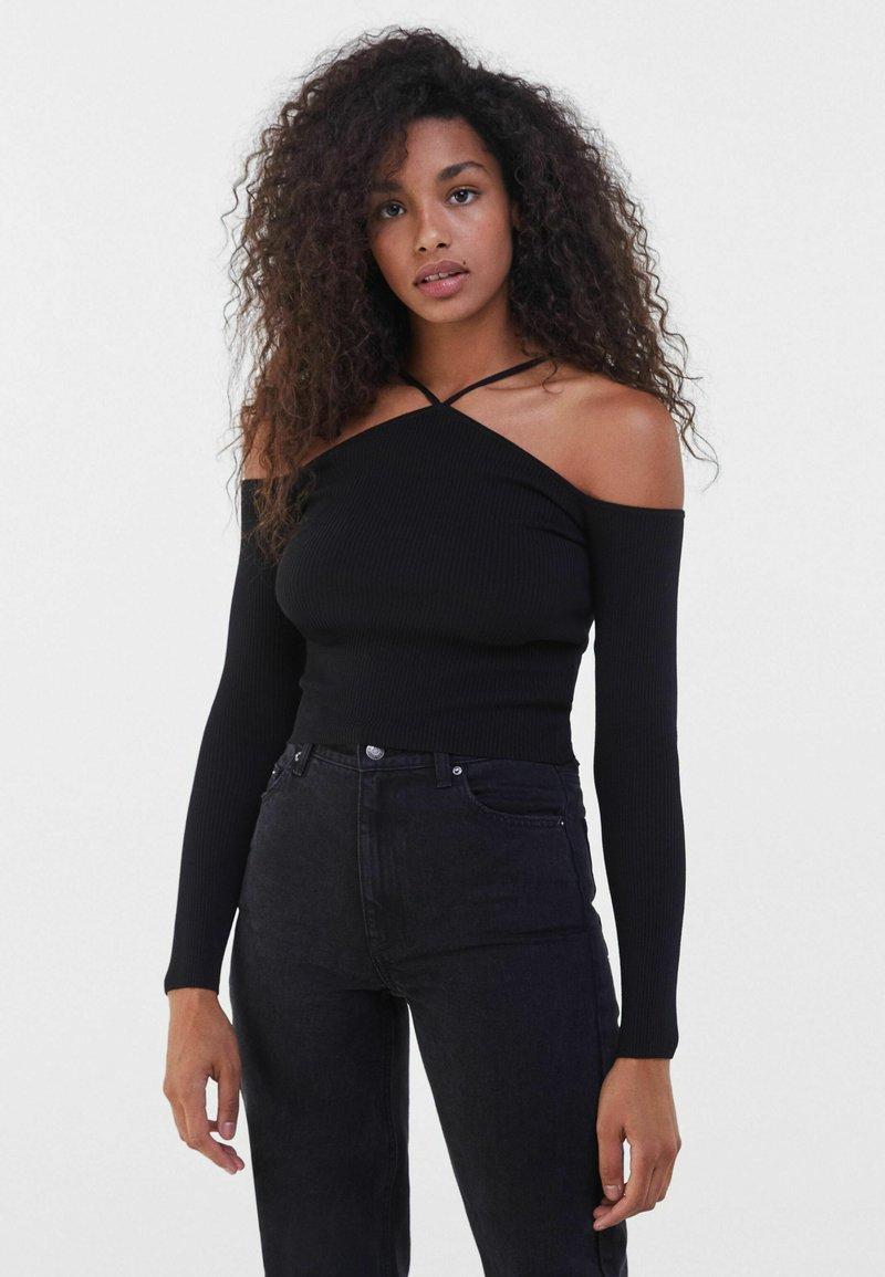 Bershka - Long sleeved top - black