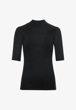 MIT HALBÄRMELN - Basic T-shirt - schwarz