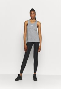 Nike Performance - CITY SLEEK TANK TRAIL - Sports shirt - dark grey heather/silver - 1