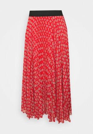 JUNGMONO - Áčková sukně - rouge