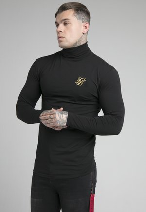 ROLL NECK - Camiseta de manga larga - black