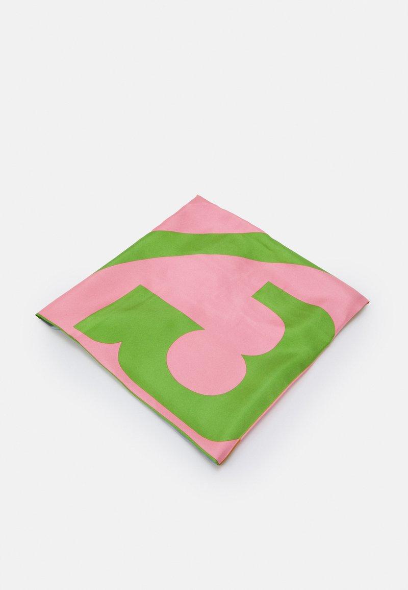 Tory Burch - COLOR BLOCK LOGO SQUARE  - Foulard - pink
