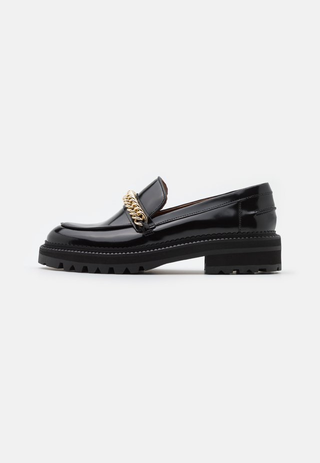 Slippers - black polido/gold