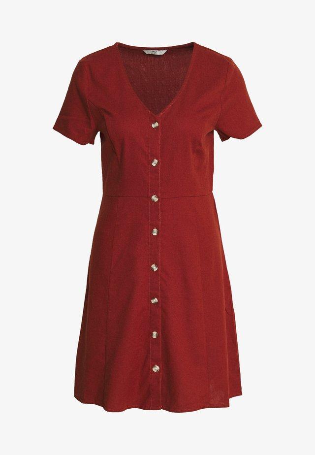ONLLORELLE SHORT DRESS - Vestido informal - burnt henna