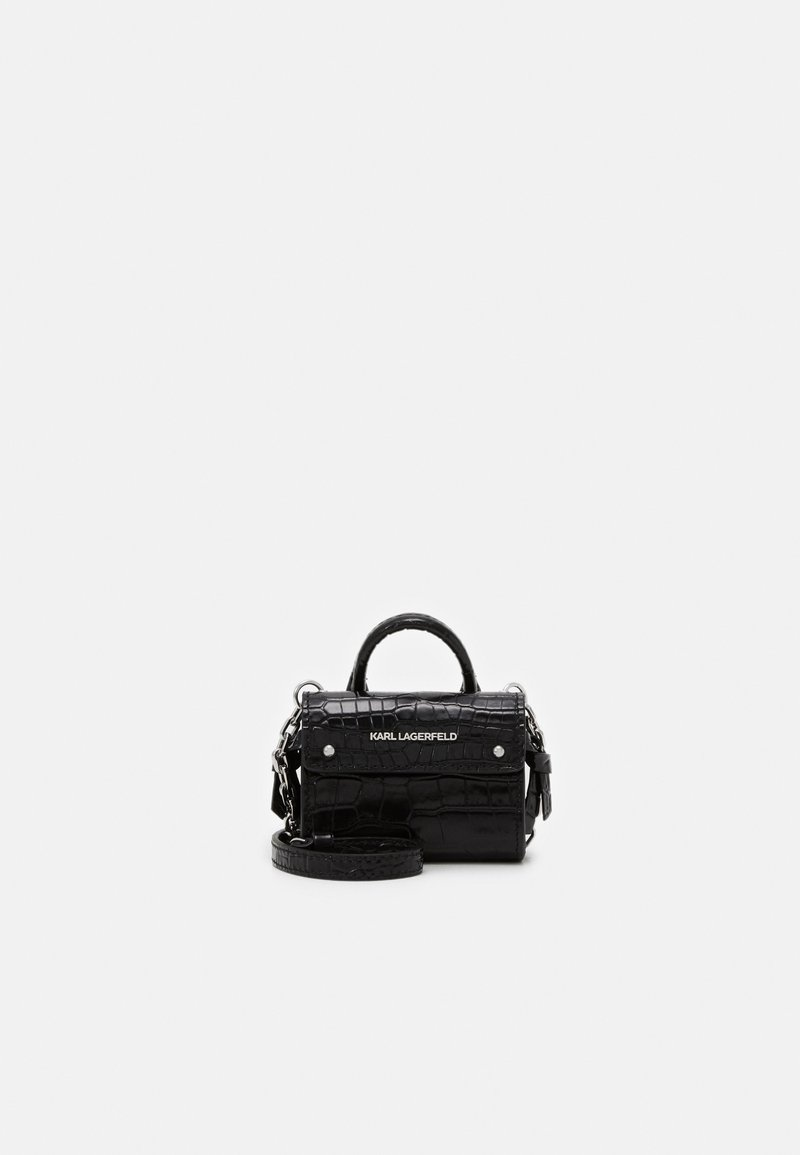 KARL LAGERFELD - IKON NANO TOP HANDLE - Torba na ramię - black