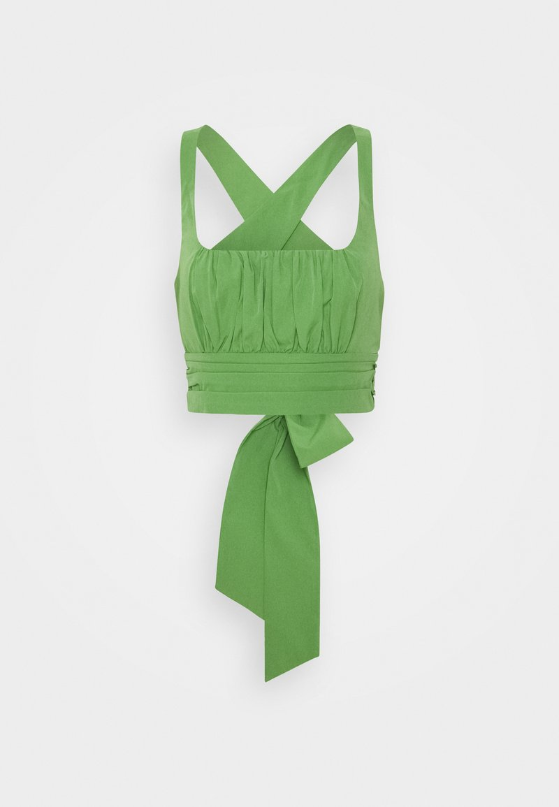 NA-KD - CROSS BACK - Blusa - green