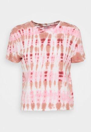 SHRUNKEN TEE - Print T-shirt - pink