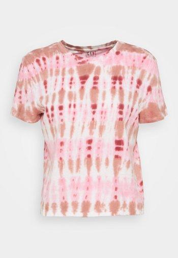 SHRUNKEN TEE - T-shirt imprimé - pink