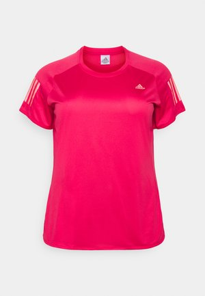 OWN THE RUN TEE - Print T-shirt - power pink
