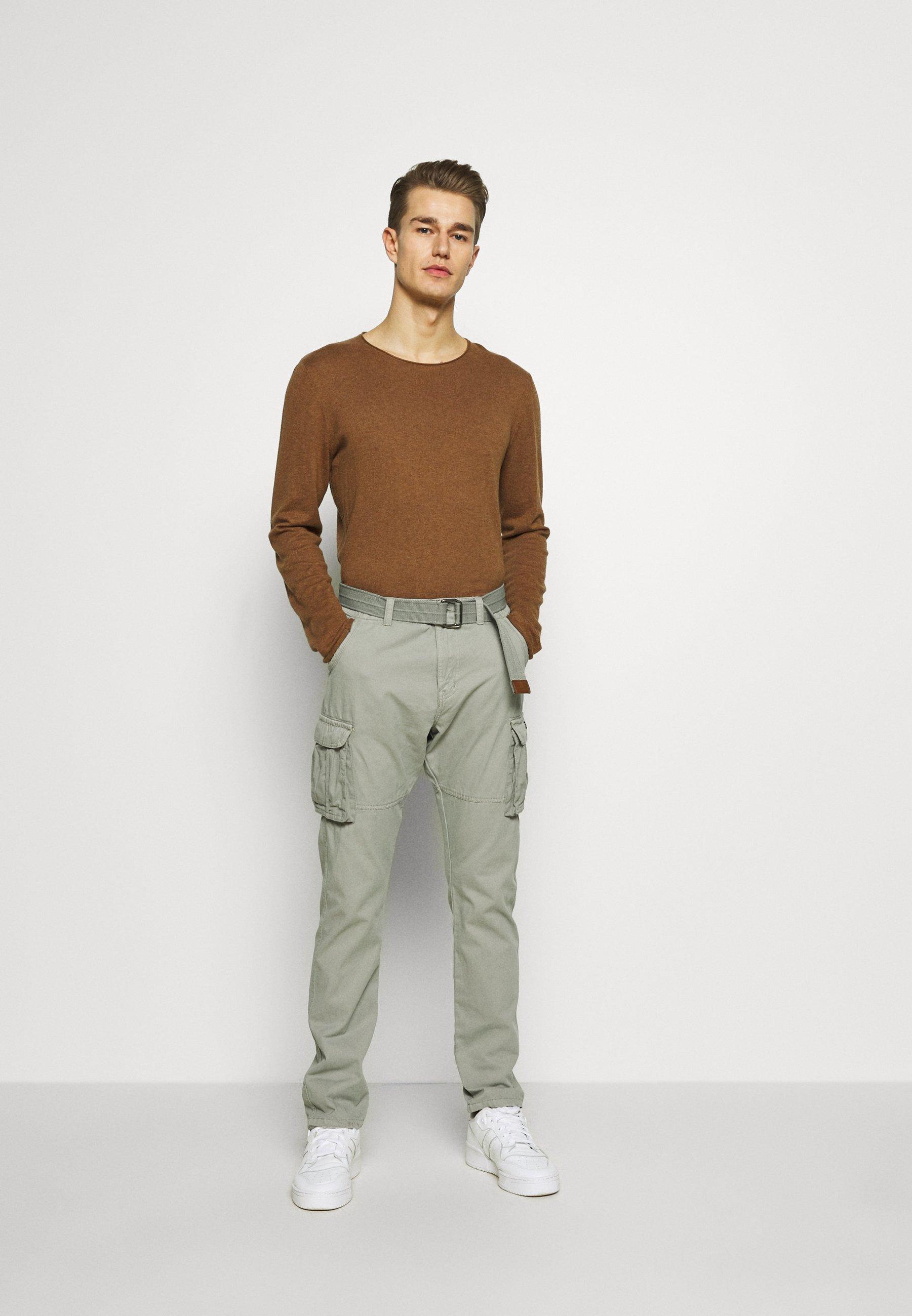Indicode Jeans William - Cargobukse Light Grey/grå