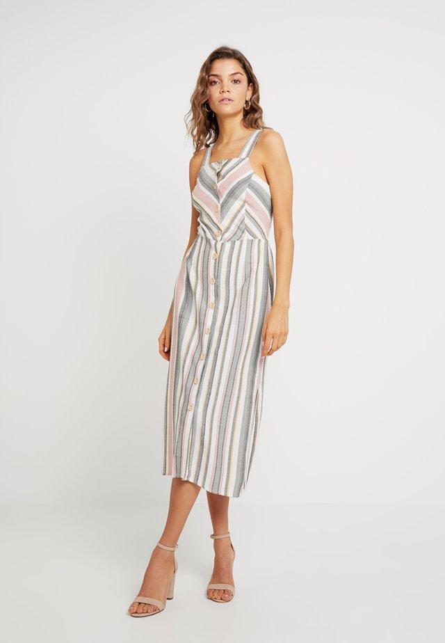 DRESS - Vestito lungo - ecru/pink