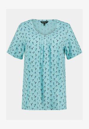 Print T-shirt - karibikblau