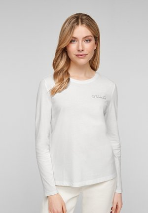 Long sleeved top - offwhite placed print