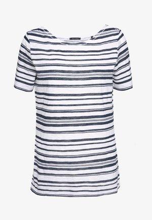 SHORT-SLEEVE BOAT-NECK STRIPED - T-shirts med print - white