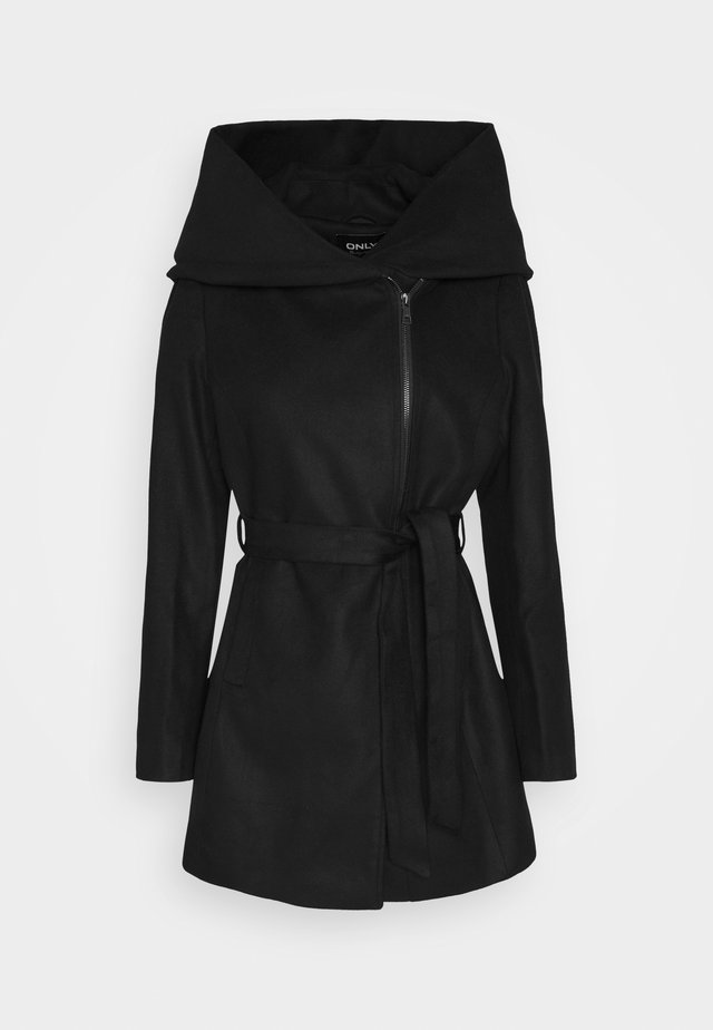 ONLCANE COAT - Kort kappa / rock - black