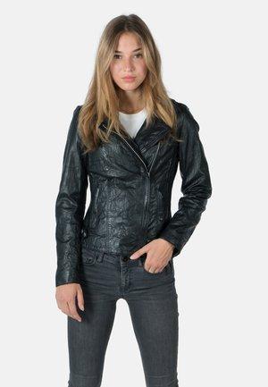 JOSY - Leather jacket - black