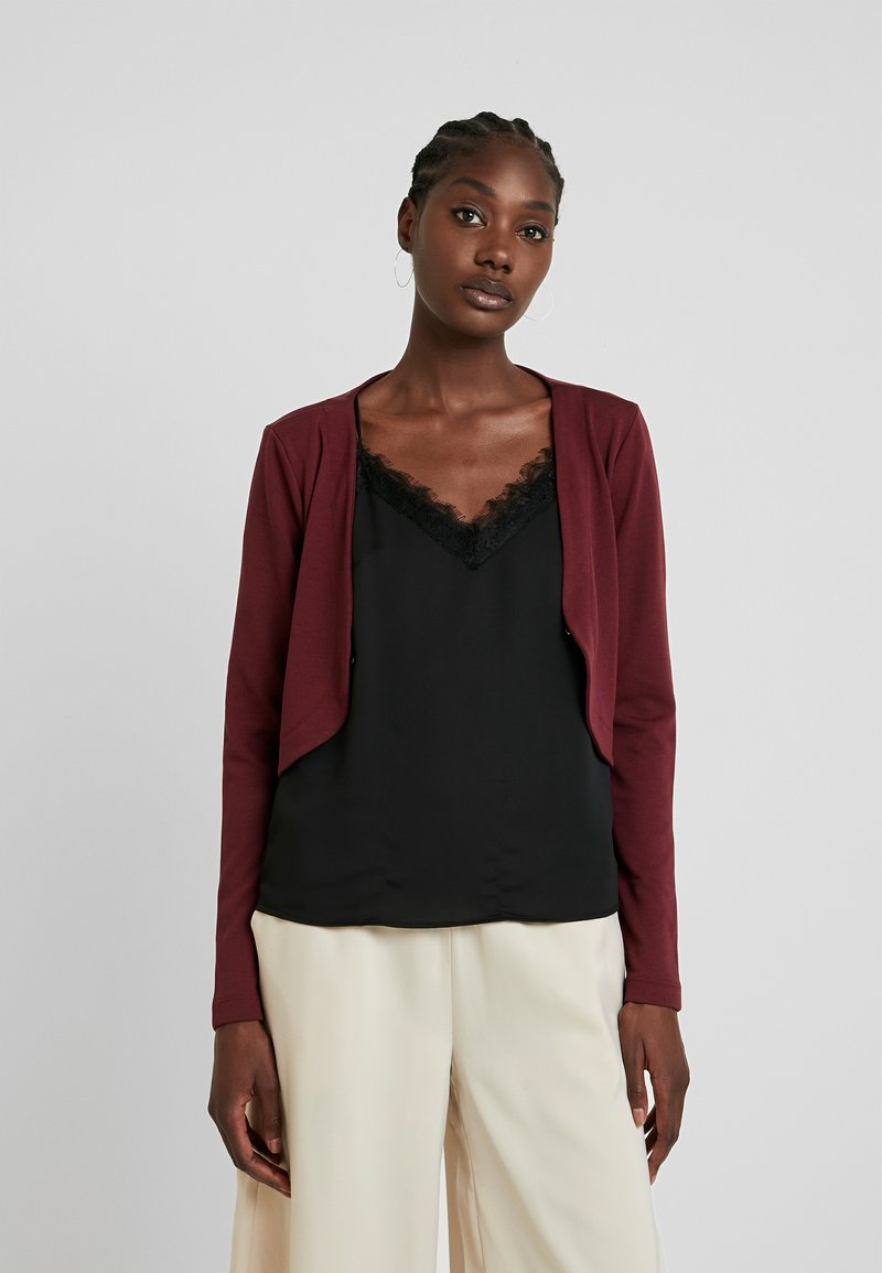TOM TAILOR - BOLERO - Strikjakke /Cardigans - deep burgundy red