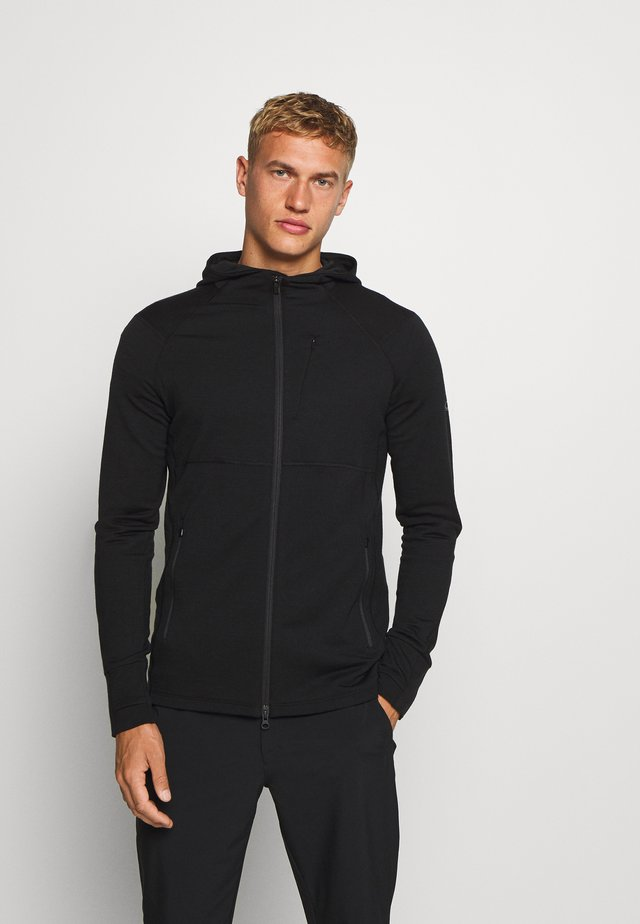 MENS QUANTUM ZIP HOOD - veste en sweat zippée - black