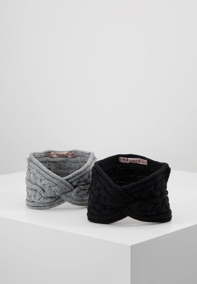 Anna Field - 2 PACK - Nauszniki - black/grey