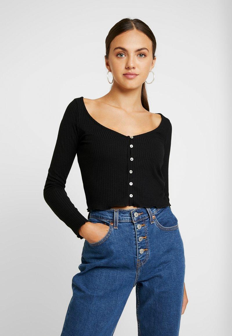 Miss Selfridge - SKINNY  - T-shirt à manches longues - black