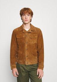 AllSaints - ADAIRE JACKET - Leather jacket - tan - 0