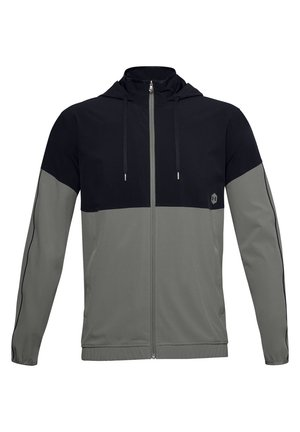 Training jacket - gravity green / black / metallic silver