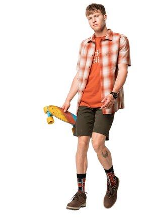 HOT CHILI - Shirt - saffron orange checks