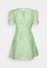 Glamorous Petite - PUFF SLEEVE SKATER DRESS - Kjole - green/watercolour - 1