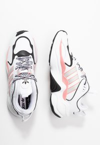 adidas Originals - MAGMUR RUNNER - Trainers - footwear white/grey one/glow pink - 3