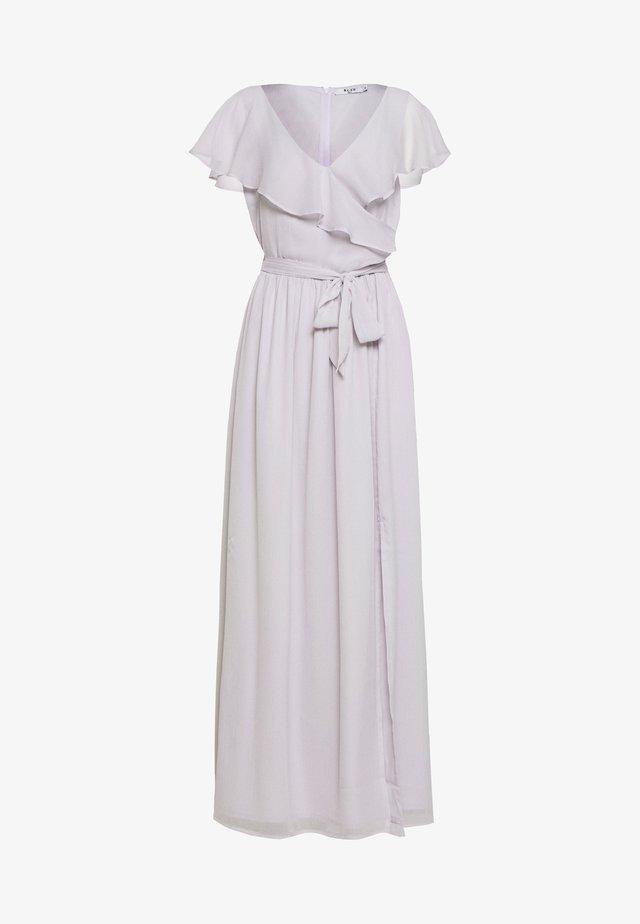 PUFF SLEEVE SLIT MAXI DRESS - Iltapuku - purple