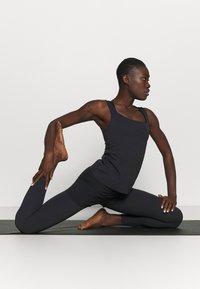 Nike Performance - THE YOGA LUXE TANK - Top - black/dark smoke grey - 1