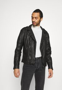 Be Edgy - CAMIL - Leather jacket - black - 2