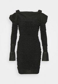 Hervé Léger - PUCKERED STITCH RUFFLE MINI DRESS - Cocktail dress / Party dress - black - 5