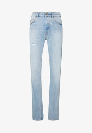 SLIM FIT MILANO ICON LIGHTLY DESTROYED - Jeansy Slim Fit - blue denim