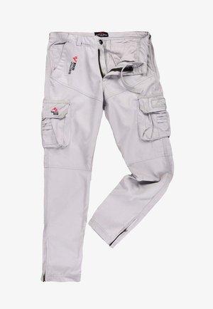 Cargo trousers - hellgrau