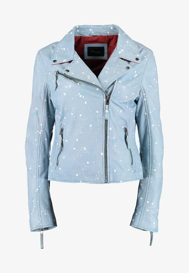 Leather jacket - light blue