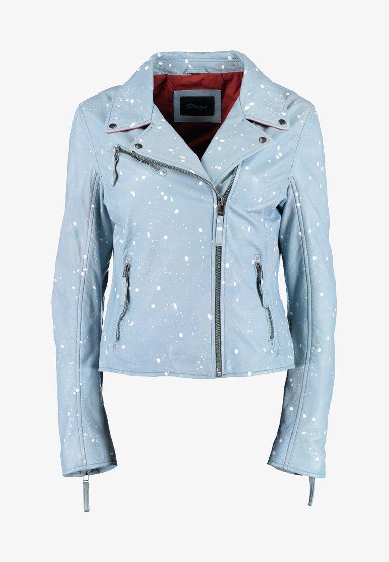 DNR Jackets - Leather jacket - light blue