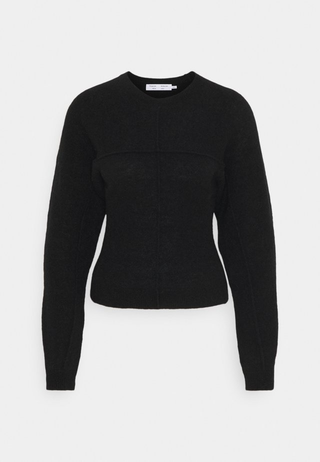 FINE BOUCLE CREWNECK  - Jumper - black
