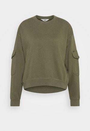POCKET SWEATSHIRT - Felpa - olive green
