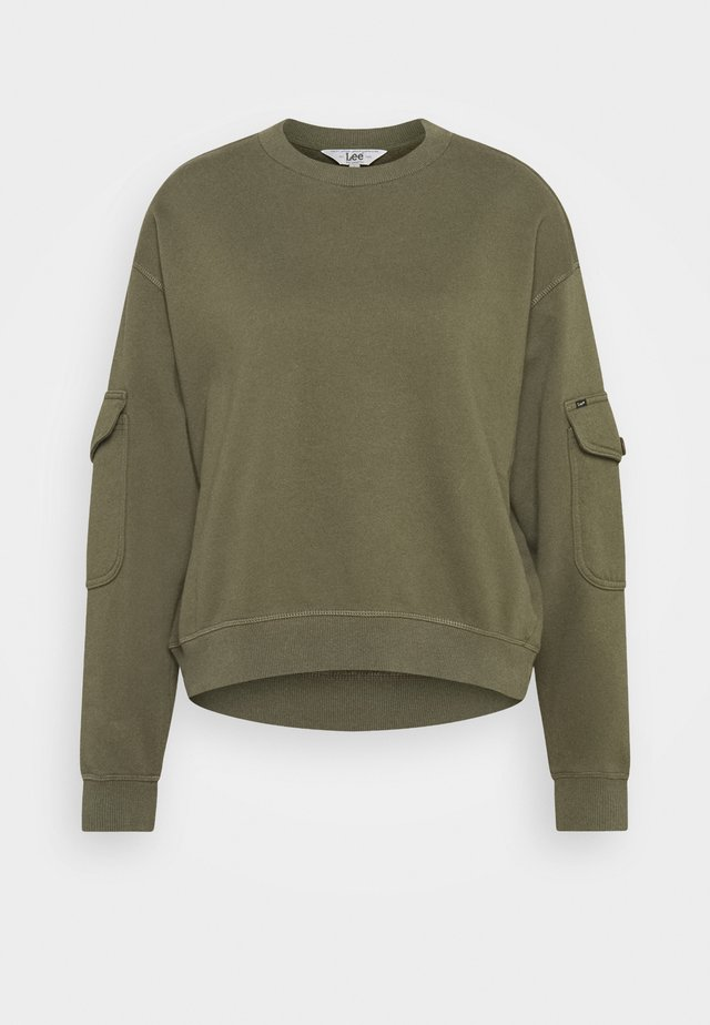 POCKET SWEATSHIRT - Collegepaita - olive green
