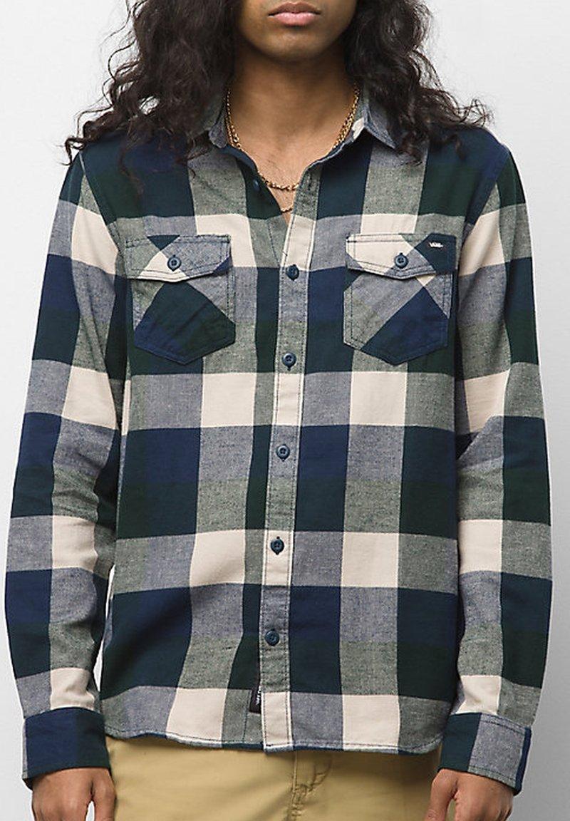 Vans - MN BOX FLANNEL - Shirt - dress blues/scarab