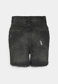 ONLY - ONLBAY DESTROY - Denim shorts - black denim - 7