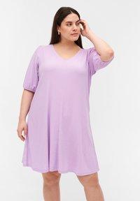 Zizzi - Jersey dress - purple rose - 0