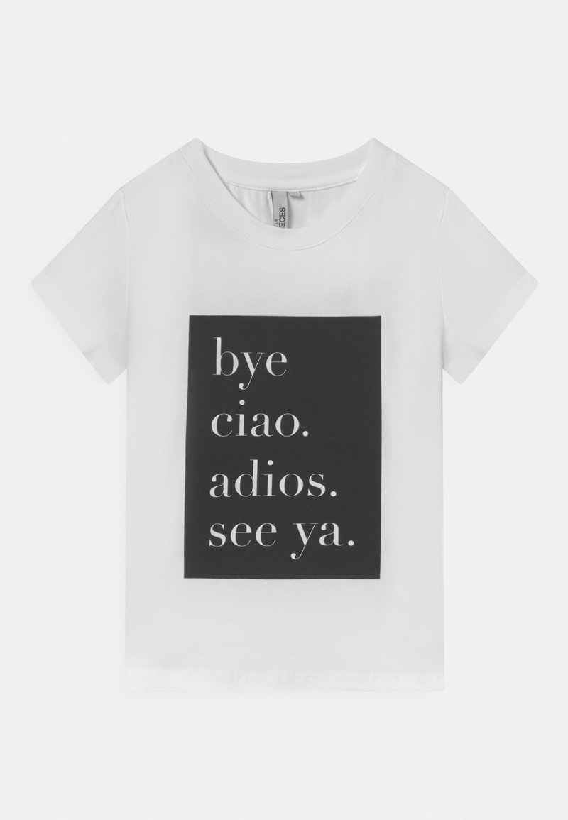 Little Pieces - CIAO TEE - T-shirt con stampa - bright white