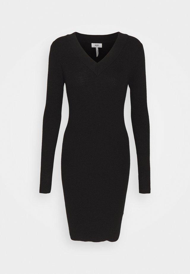 OBJFAE THESS DRESS - Neulemekko - black