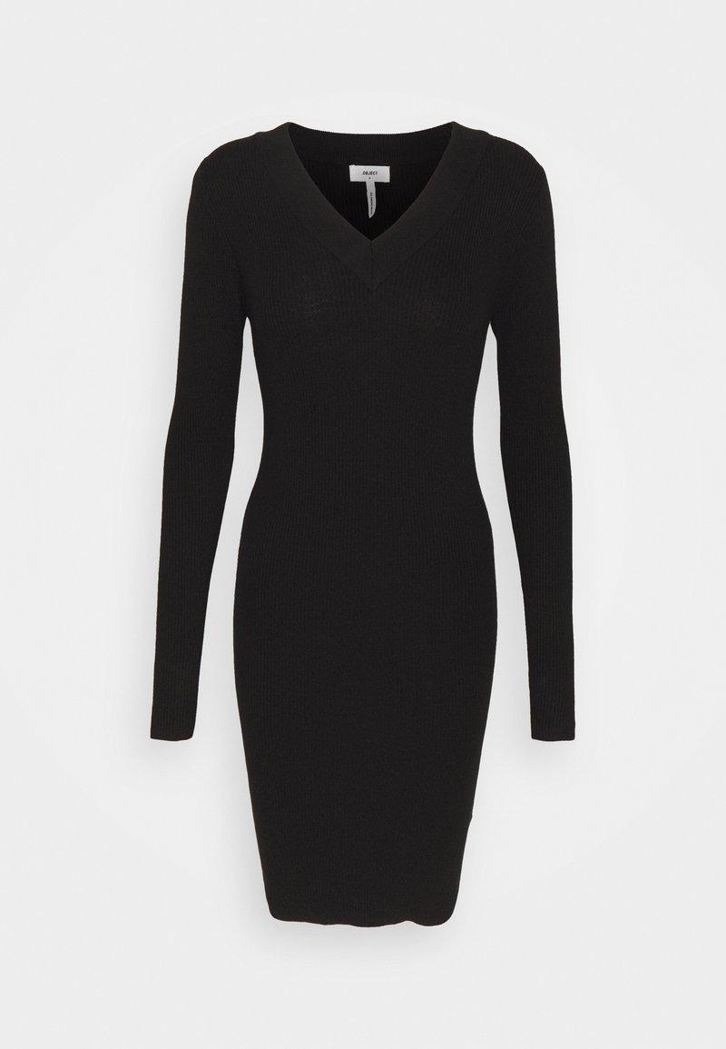 Object - OBJFAE THESS DRESS - Gebreide jurk - black